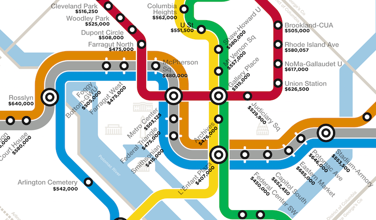 Washington Dc Area Homes Prices By Transit Stop Estately Blog