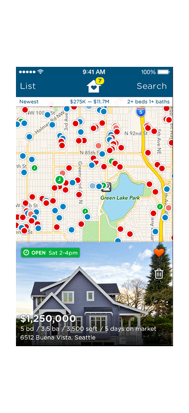 Estately's app for iPhone and iPod touch: Easy Map Home Search