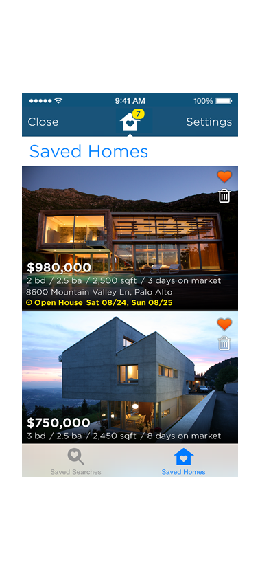 Estately's app for iPhone and iPod touch: Easy access to your saved homes