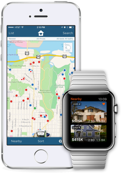 Estately's app for iPhone, iPod touch, iPad and Apple Watch