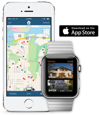 Estately's iPhone and Apple Watch app: take your home search with you