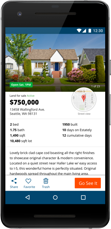 Get our award-winning real estate app for Android
