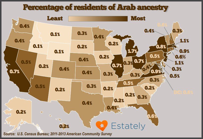Six Maps Shedding Light On Immigrants And Refugees In America - Us population map 2015