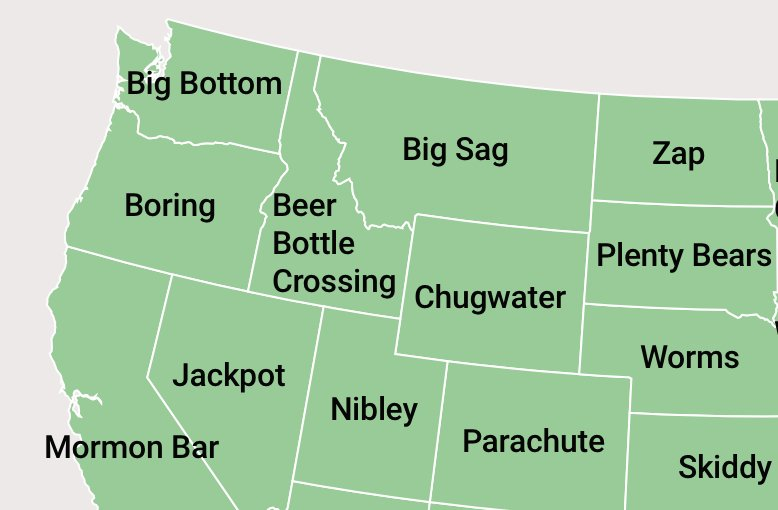 These Are The Most Oddly Named Towns In Each U S State Estately Blog
